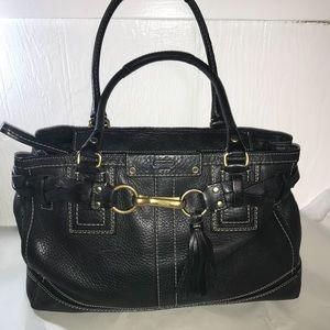 Coach HAMPTON black satchel 10529